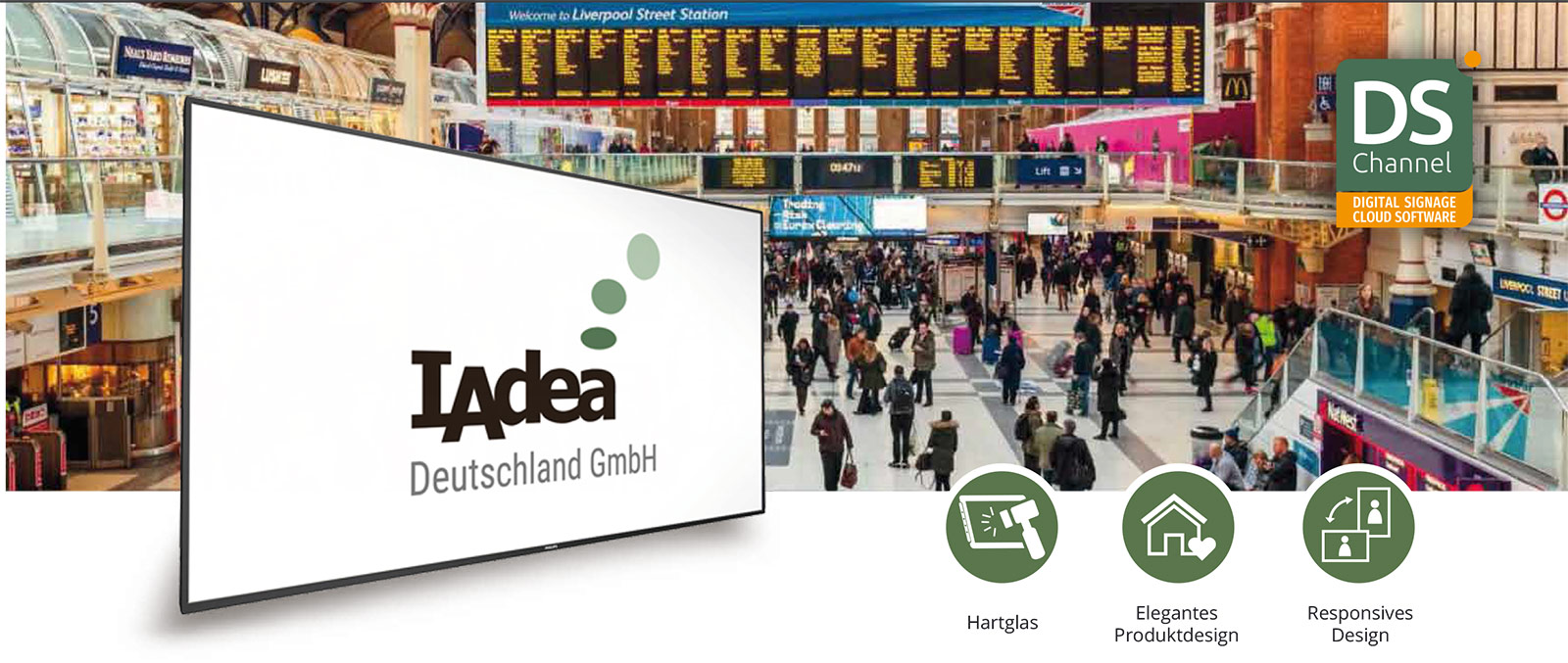 IAdea Deutschland Smart Signboard 65 4K Cloud